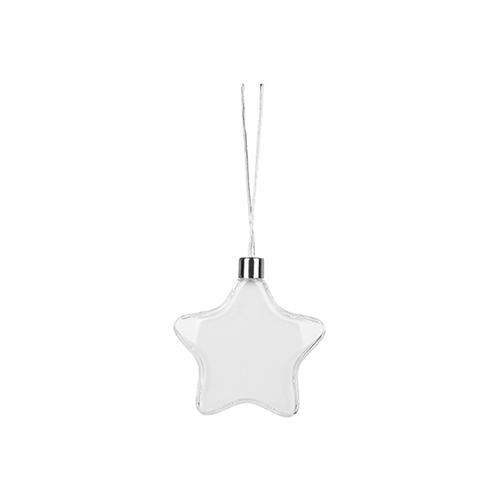 Szublimálható karácsonyfa dísz - Ø 9 cm csillag