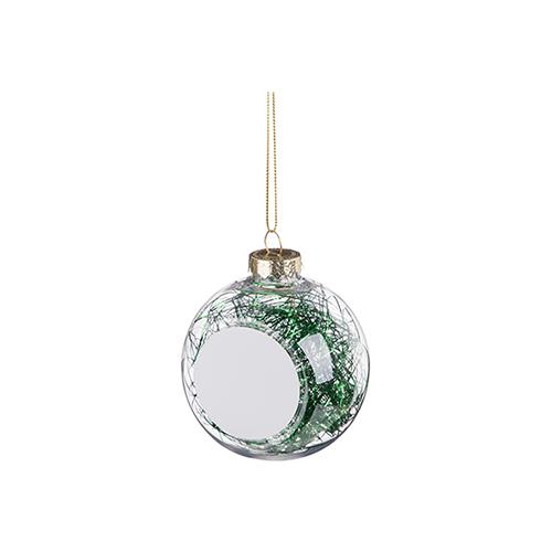 Szublimálható karácsonyfa gömb - zöld angyal haj