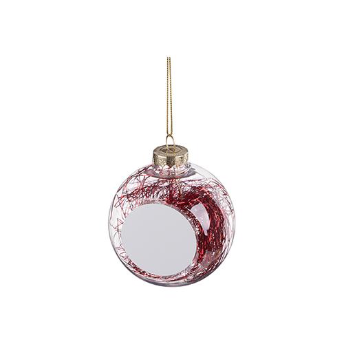 Szublimálható karácsonyfa gömb - piros angyal haj