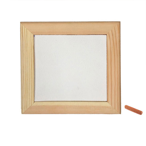 Szublimálható 15 x 15 cm-es fa fotókeret filccel