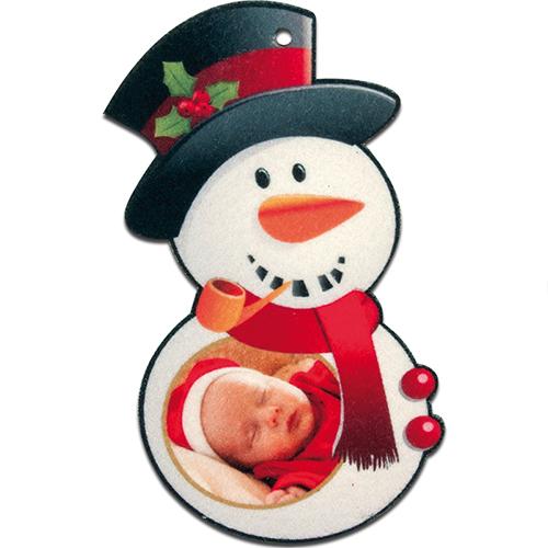 Szublimálható Filc hóember alakú dekoráció