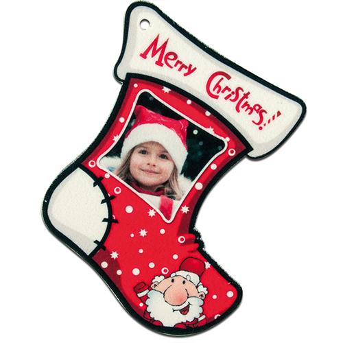 Szublimálható Filc zokni alakú dekoráció