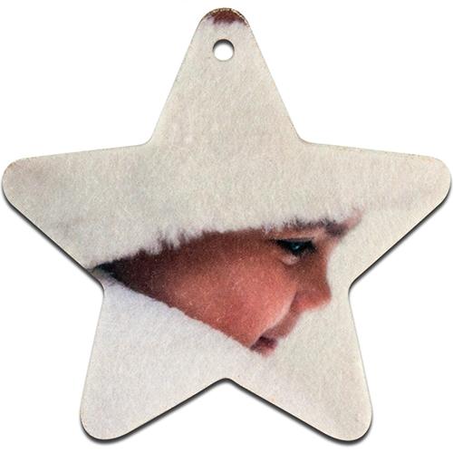 Szublimálható Filc csillag alakú dekoráció
