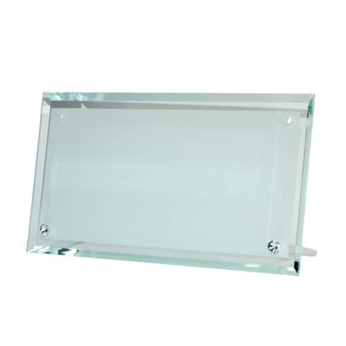 30 x 16 cm-es üveg fotókeret szublimáláshoz, préseléshez
