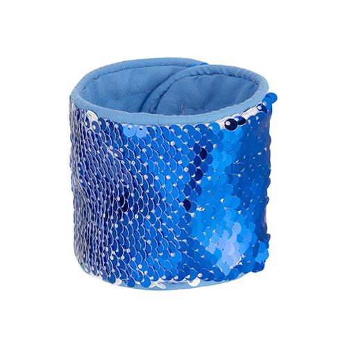 Szublimálható flitteres csuklópánt - kék