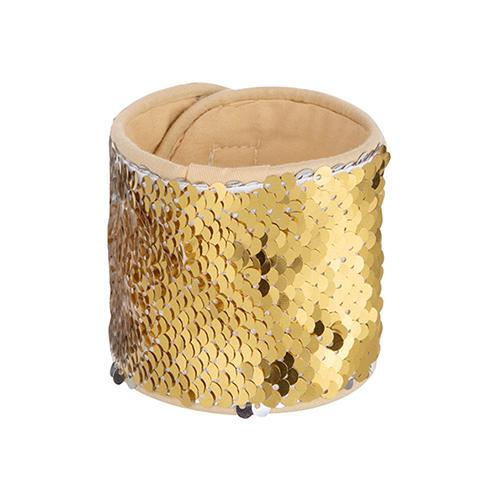 Szublimálható flitteres csuklópánt - arany