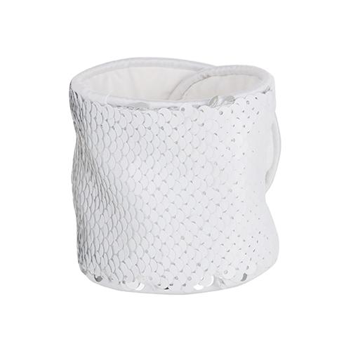 Szublimálható flitteres csuklópánt - fehér