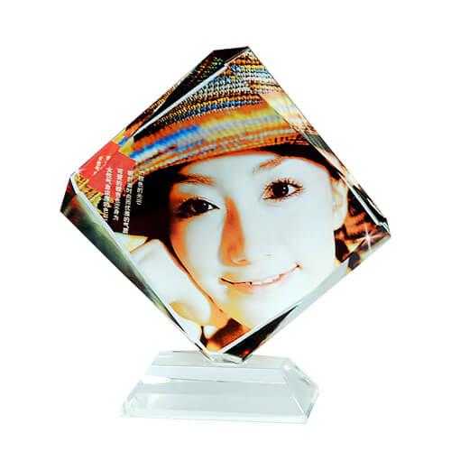 Trapéz alakú fényképes kristálytömb, SJ06-os típus