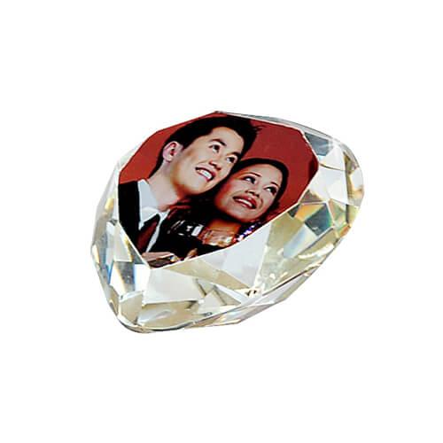 Két részes, szív alakú fényképes kristálytömb, SJ14-es típus
