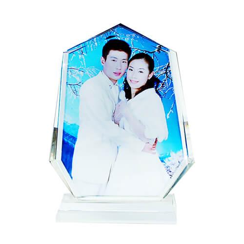 Romantikus, jéghegy alakú fényképes kristálytömb, SJ34-es típus
