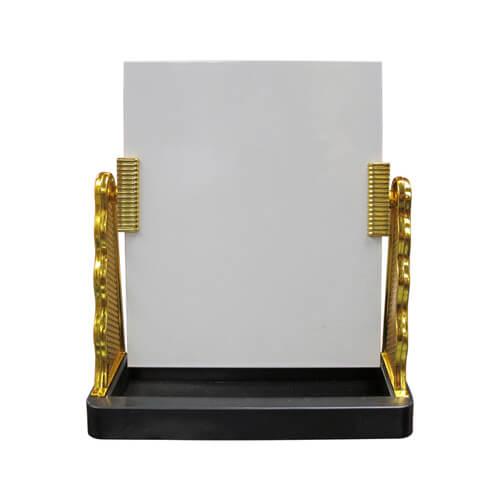Üveg fotókeret arany színű oldalkerettel, szublimáláshoz, préseléshez
