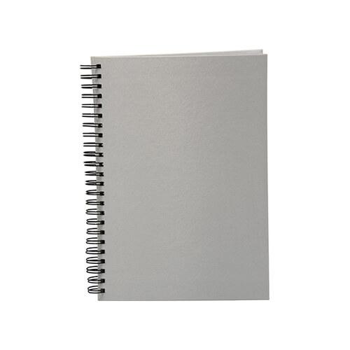 Poliészter borítású, A5-ös jegyzetfüzet szublimáláshoz, préseléshez