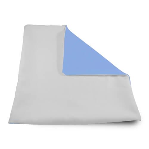 32 x 32 cm-es puha világoskék párnahuzat szublimáláshoz, préseléshez