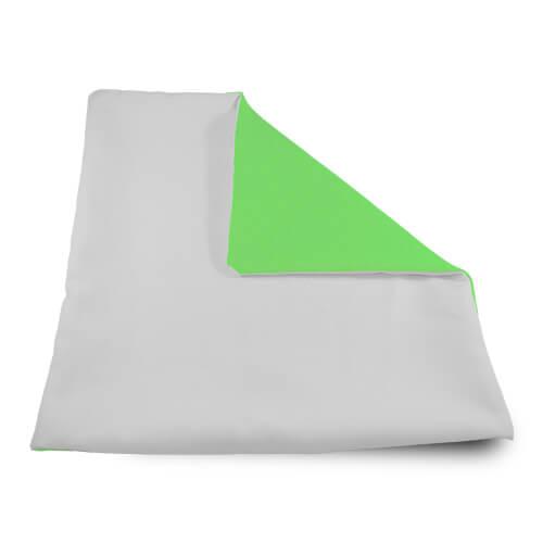 32 x 32 cm-es puha világoszöld párnahuzat szublimáláshoz, préseléshez