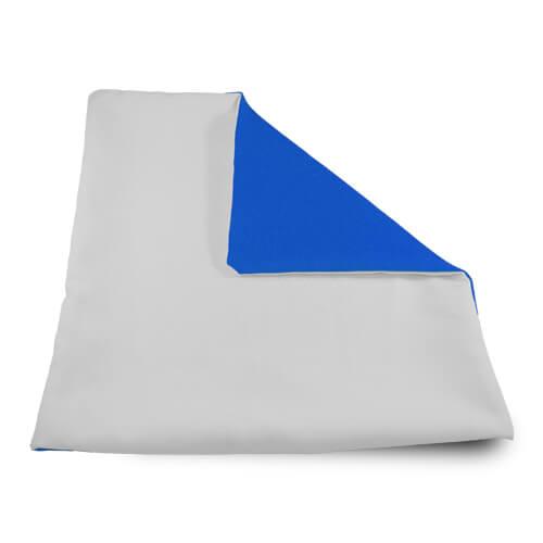 32 x 32 cm-es puha kék párnahuzat szublimáláshoz, préseléshez