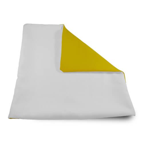 32 x 32 cm-es puha sárga párnahuzat szublimáláshoz, préseléshez