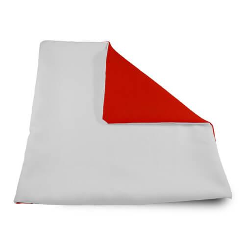 32 x 32 cm-es puha piros párnahuzat szublimáláshoz, préseléshez