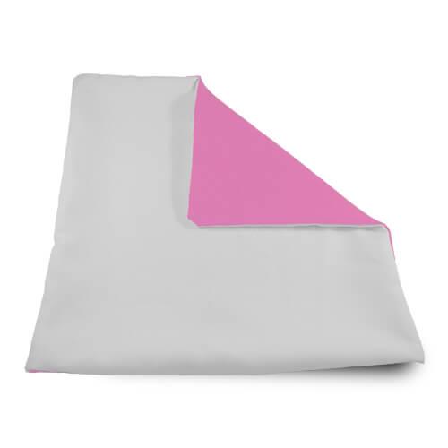 32 x 32 cm-es puha rózsaszín párnahuzat szublimáláshoz, préseléshez