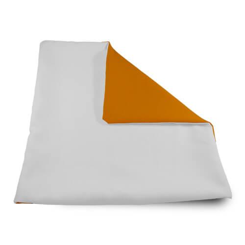 32 x 32 cm-es puha narancssárga párnahuzat szublimáláshoz, préseléshez
