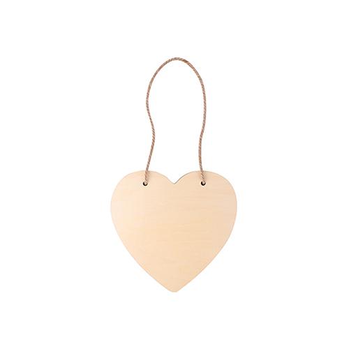 Szublimálható furnél függő - szív