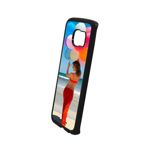 Samsung Galaxy S6 Edge fekete gumi tok szublimáláshoz, préseléshez
