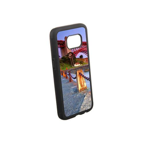 Samsung Galaxy S7 G9300 fekete gumi tok szublimáláshoz, préseléshez