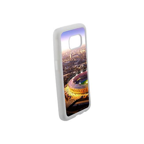 Samsung Galaxy S7 G9300 fehér gumi tok szublimáláshoz, préseléshez