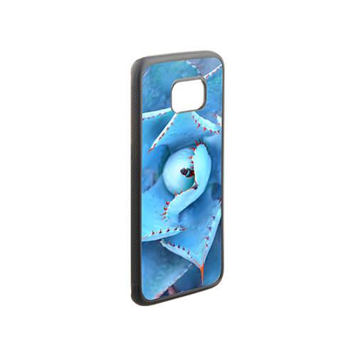 Samsung Galaxy S7 Edge G9350 fekete gumi tok szublimáláshoz, préseléshez