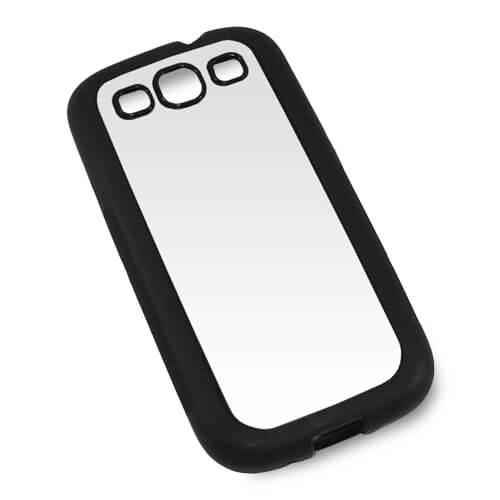Samsung Galaxy S3 i9300 fekete gumi tok szublimáláshoz, préseléshez