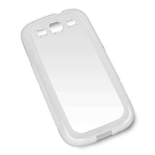 Samsung Galaxy S3 i9300 fehér gumi tok szublimáláshoz, préseléshez