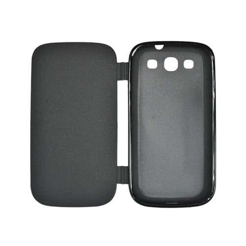Samsung Galaxy S3 i9300 fekete felnyitható gumi tok szublimáláshoz, préseléshez