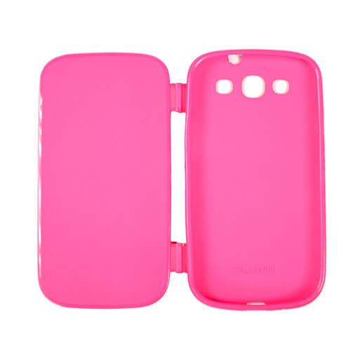 Samsung Galaxy S3 i9300 rózsaszín felnyitható gumi tok szublimáláshoz, préseléshez