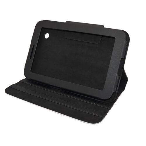 Samsung Galaxy TAB 2 P3100 fekete bőrtok szublimáláshoz, préseléshez