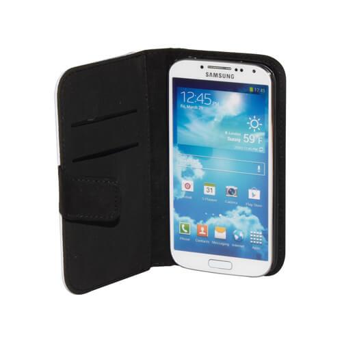 Samsung Galaxy S4 i9500 fekete eco bőrtok szublimáláshoz, préseléshez