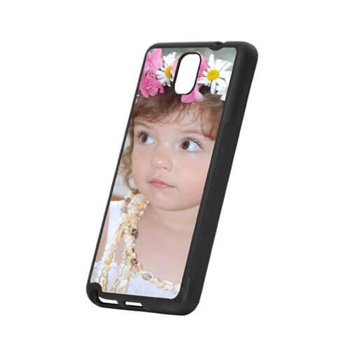 Samsung Galaxy Note 3 fekete gumi tok szublimáláshoz, préseléshez