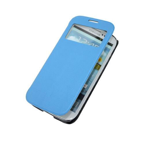 Samsung Galaxy S4 i9500 kék felnyitható tok szublimáláshoz, préseléshez