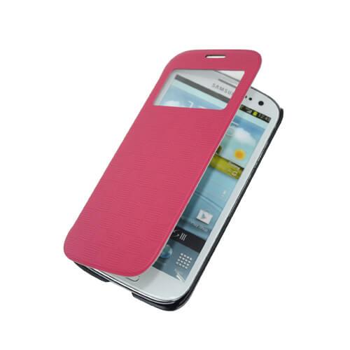 Samsung Galaxy S4 i9500 rózsaszín felnyitható tok szublimáláshoz, préseléshez