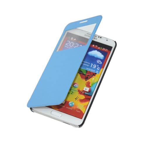 Samsung Galaxy Note 3 kék felnyitható tok szublimáláshoz, préseléshez