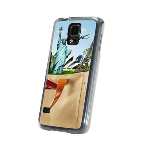 Samsung Galaxy S5 áttetsző műanyag tok szublimáláshoz, préseléshez