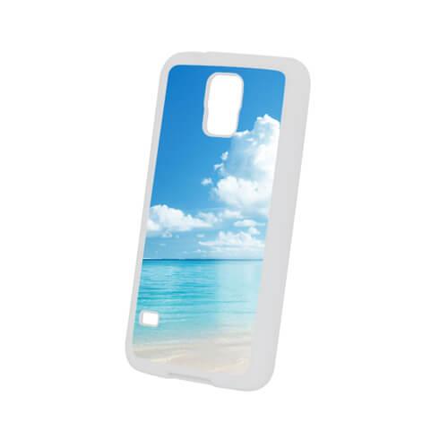 Samsung Galaxy S5 fehér gumi tok szublimáláshoz, préseléshez