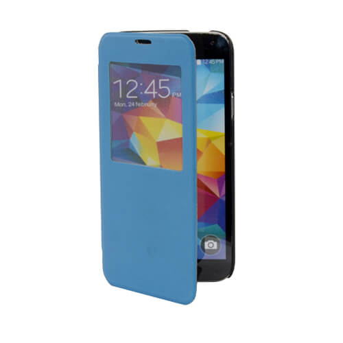 Samsung Galaxy S5 i9600 felnyitható kék tok szublimáláshoz, préseléshez