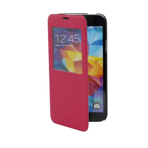 Samsung Galaxy S5 i9600 felnyitható rózsaszín tok szublimáláshoz, préseléshez