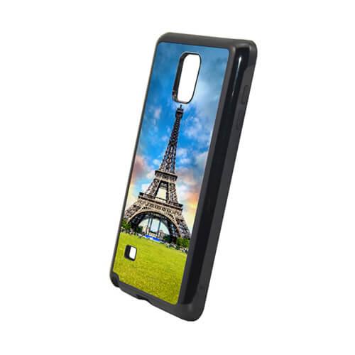 Samsung Galaxy Note 4 fekete műanyag-gumi tok szublimáláshoz, préseléshez