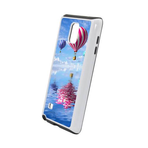 Samsung Galaxy Note 4 fehér műanyag-gumi tok szublimáláshoz, préseléshez