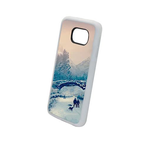 Samsung Galaxy S6 fehér gumi tok szublimáláshoz, préseléshez