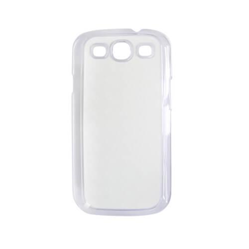 Samsung Galaxy S3 i9300 áttetsző műanyag tok szublimáláshoz, préseléshez