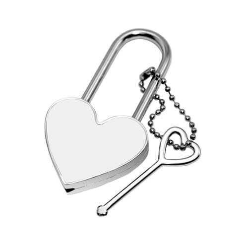 4 x 7,5 cm-es szív alakú lakat szublimáláshoz, préseléshez