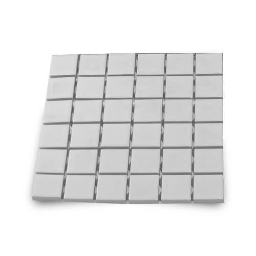 4,8 x 4,8 cm-es fényes kerámia mozaik - 36 darabos, szublimáláshoz, préseléshez