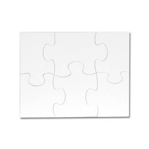 20 x 14 cm-es, 6 darabos gyerek puzzle szublimáláshoz, préseléshez