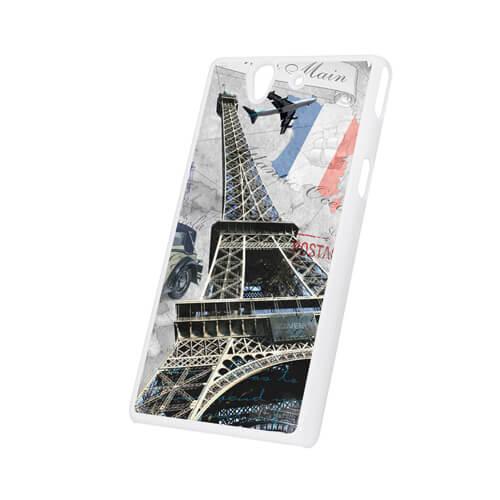 Sony Xperia XZ L36h fehér műanyag tok szublimáláshoz, préseléshez